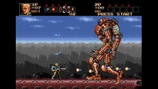 Contra Hard Corps Sega Genesis No Death (Path B: Ultimate Super Being) 60fps