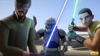 Star Wars Rebels: Rex, Kanan & Ezra Vs Battle droid Army
