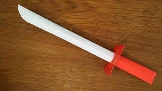 How To Make A Paper Samurai Sword - Easy Tutorial
