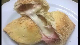 Ricetta Calzoni al forno ripieni (impasto senza burro)