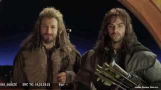 Aidan Turner & Dean O'Gorman Rock & Roll Dwarves Extended