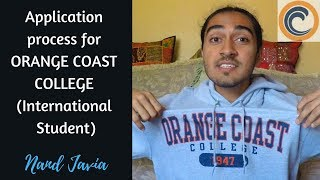 ORANGE COAST COLLEGE   Application process for International Students