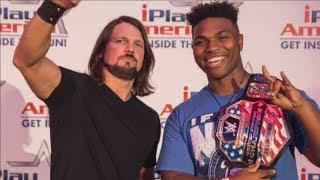 Meeting AJ Styles At iPlayAmerica