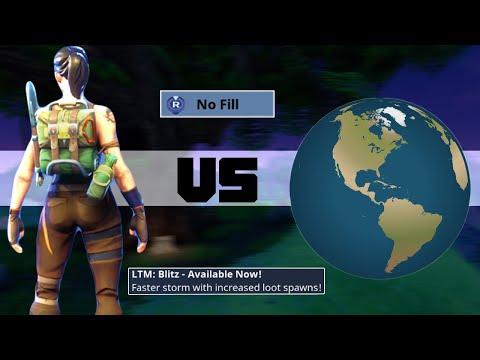 I WON SOLO vs SQUADS on the NEW BLITZ MODE 1v4 fortnite