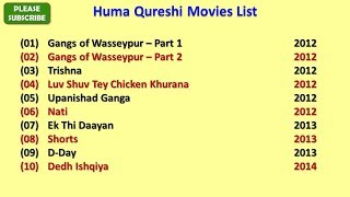 Huma Qureshi Movies List