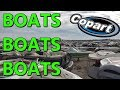 WRECKED FLOODED BOATS EVERYWHERE Rebuildable? Copart Walk around