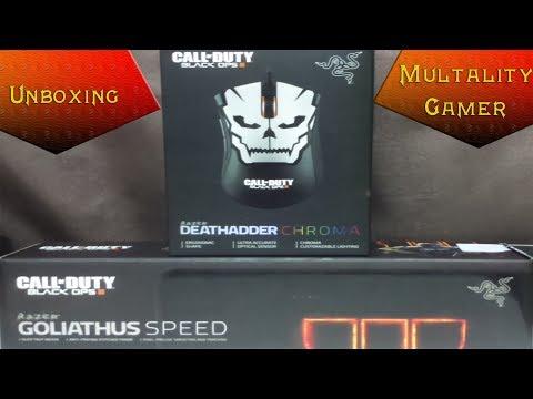 Unboxing Razer Deathadder Chroma e Goliathus Speed Edição Especial Black Ops 3