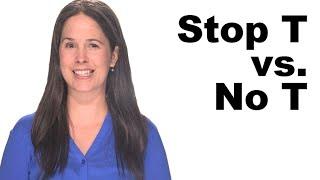 Stop T vs No T - American English Pronunciation