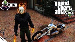 GHOST RIDER ÎN GTA 5! SUNT MOTOCICLISTUL FANTOMĂ! (GTA 5 Mods) - Antidot