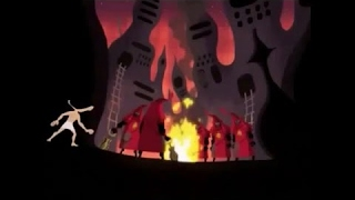 Samurai Jack S4Ep12-Young Jack infiltrates African Attacker camp