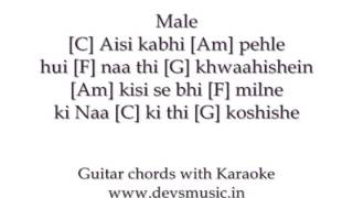 Chahun Main Ya Na Karaoke Lyrics Guitar Chords Ashiqui 2 www devsmusic in Devs Music Academy