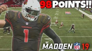 NEW MADDEN 19 PLAYER CAREER!! 98 TOTAL POINTS SCORED IN ONE GAME!?!?