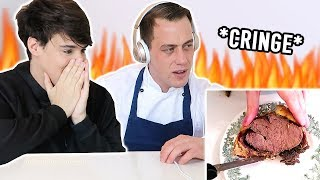 PROFESSIONAL CHEF reacts to my cooking videos