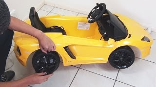 Lamborghini Aventador Ride On Toy Car Remote Control UNBOXING DIY LP700-4