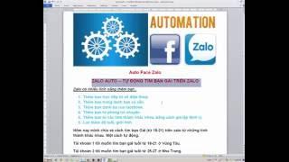 ZALO AUTO – Tự động tìm bạn gái trên ZALO
