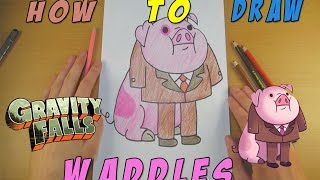 How To Draw Waddles   Speed Drawing   How To Draw Gravity Falls
