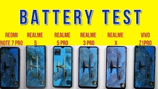 Realme 5 Pro Battery Test: vs Realme X, Realme 3 Pro, Z1 Pro, Note 7 Pro | Battery Drain | Charging