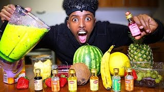 FRUITIEST DRINK IN THE WORLD CHALLENGE!! (FRUIT EXTRACT!!) *EXTREMELY DANGEROUS*