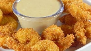 How To Make Crispy Fried Shrimp - آموزش درست کردن میگوی پفکی