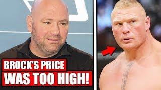 Dana White shutdown Brock Lesnar's return because Brock wanted too much money; UFC Ottawa