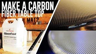 Carbon Fiber Table Top - Glasscast epoxy pour