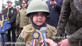 SOLDATUL ADRIAN, la vârsta de 4 ani. Discurs din