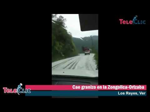 Cae granizo en la Zongolica Orizaba