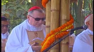 Pope Francis joins mass prayer at Suhrawardy Dhaka Bangladesh