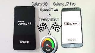 Galaxy A8 2018 Vs Galaxy J7 Pro Speed Test Comparison! Urdu/Hindi