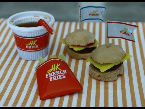 Curiosidades do Japão Mini Hamburgers kit Comida em miniatura.