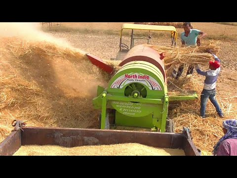 Xxx Mp4 John Deere Tractor Paddy Thresher In Rice Farming Swaraj 855 Fe Swaraj 735 Fe 3gp Sex