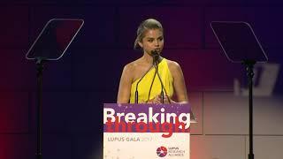 Selena Gomez Full Speech Lupus Research Gala November 20th 2017 New York City