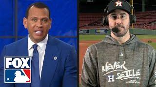 Justin Verlander talks with FOX MLB crew ahead of Houston