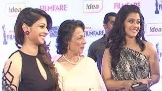 59th Idea Filmfare Awards 2014 | Tanisha Mukherjee, Kajol, Tanuja on the red carpet