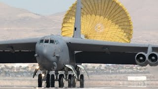 BIG BIRDS! SUPERB B-52 bombers takeoffs & landings compilation. Listen to those ENGINES ROAR!