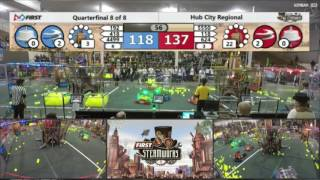 2017 FIRST Robotics Competition Hub City Regional QF4-2