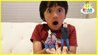 Kid shrinks Mommy and Daddy Pretend Play
