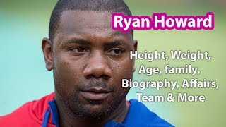 Ryan Howard Height, Weight, Age, Family, Salary, Net Worth and more