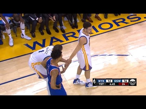 Steph Curry Steals Jump Ball From Joakim Noah Helps Prevent JaVale McGee from Shaqtin