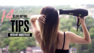 10+ Blow Drying Hair Tips & Tricks! (For Beginners)