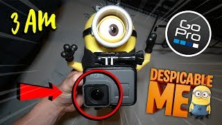 ATTACHING GOPRO TO A MINION FROM DESPICABLE ME AT 3 AM!! (CAME AFTER US)