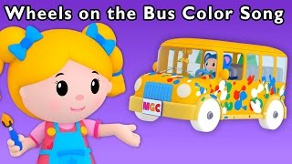Messy Color Adventure | Wheels on the Bus Color Song and More | Baby Songs from Mother Goose Club!
