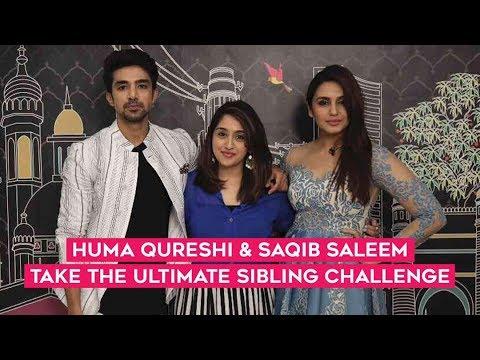 Huma Qureshi & Saqib Saleem Take The Sibling Challenge | Dobaara | MissMalini Interview