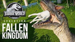UNLOCKING THE FALLEN KINGDOM DINOSAURS! | Jurassic World: Evolution Fallen Kingdom DLC