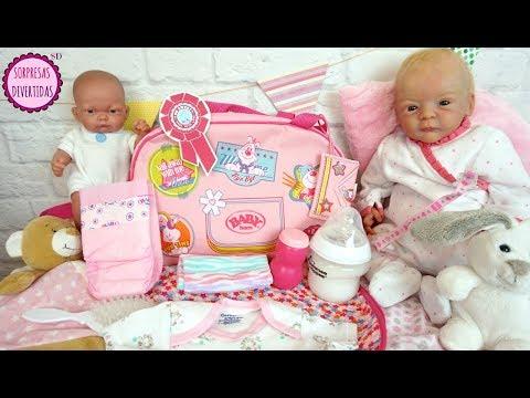 La Pañalera de mi bebé Reborn Bolso para muñecas bebés de juguete - LINDEA & BEN