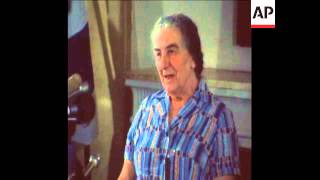 SYND 23 5 73 GOLDA MEIR PRESS CONFERENCE ON US RELATIONS