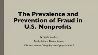 The Prevalence and Prevention of Fraud in US Nonprofits