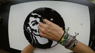 DMT WASTE ART -  SNOOP DOGG  (VINYL CLOCK)