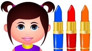 Learn Colors With Lipstick | Learning Colors For Children | JamJammies Learning Videos For Toddlers