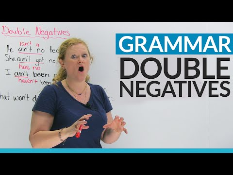 English Grammar: Fix your double negatives!